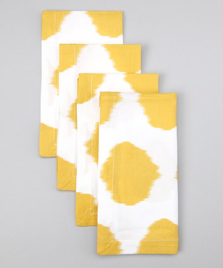 Fete Dijon Ikat Dot Napkin - Set of Four