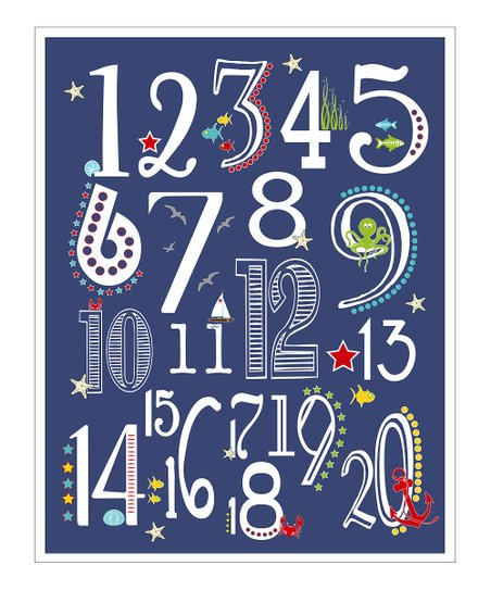 Navy Nautical 123&#039;s Gicle Print