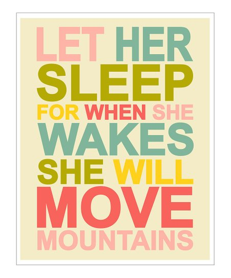 Multicolor 'Let Her Sleep' Giclée Print