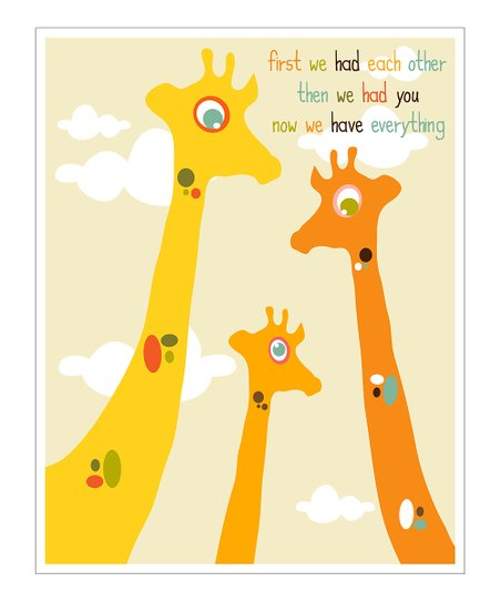 Giraffe 'First We Had' Giclée Print