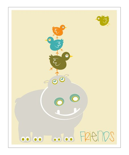 Blue 'Friends' Giclée Print