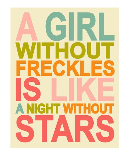 Cream 'A Girl without Freckles' Print