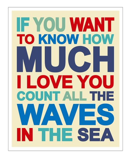 Nautical Blues &#039;If You Want to Know&#039; Gicle Print