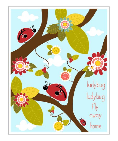 &#039;Ladybug Fly Away&#039; Gicle Print
