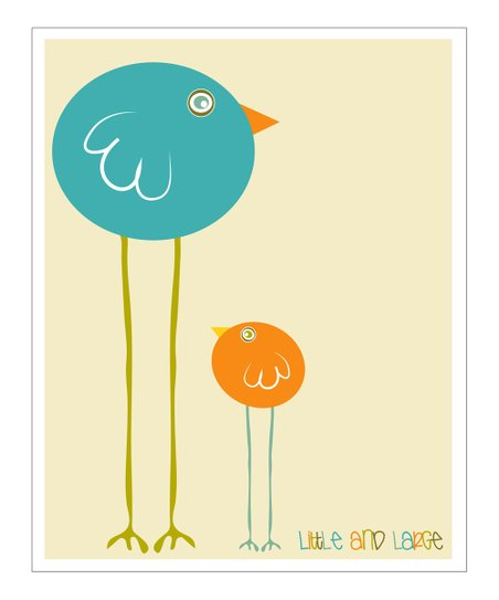 Cream &amp; Blue &#039;Little and Large&#039; Gicle Print