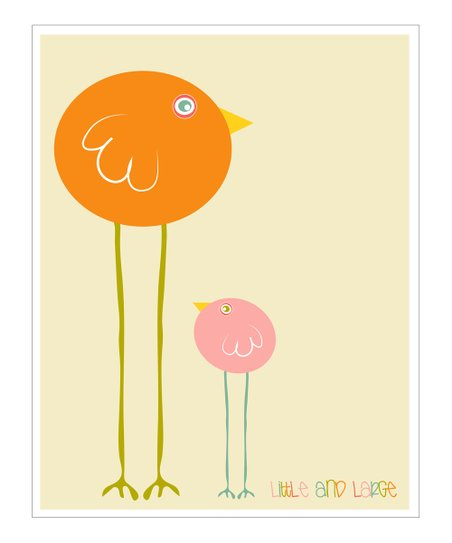 Pink &amp; Orange &#039;Little and Large&#039; Gicle Print