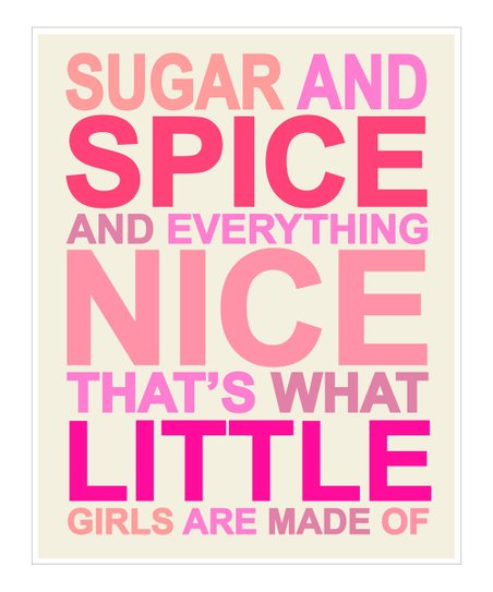 Pink 'Sugar and Spice' Giclée Print