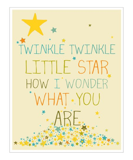 Cream &amp; Blue &#039;Twinkle Twinkle&#039; Gicle Print