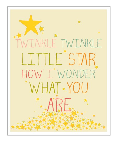Cream &amp; Pink &#039;Twinkle Twinkle&#039; Gicle Print