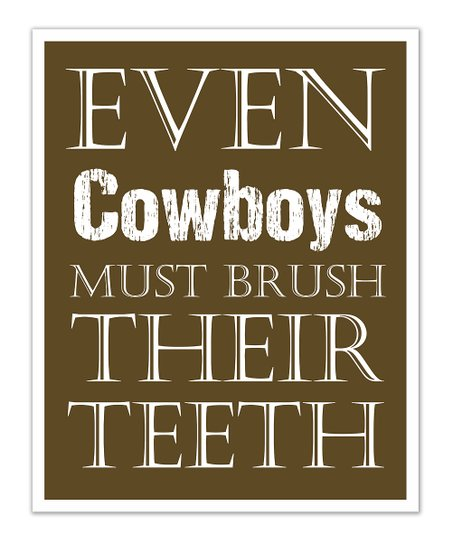 Fit to Print Designs Brown Cowboys 'Teeth' Print