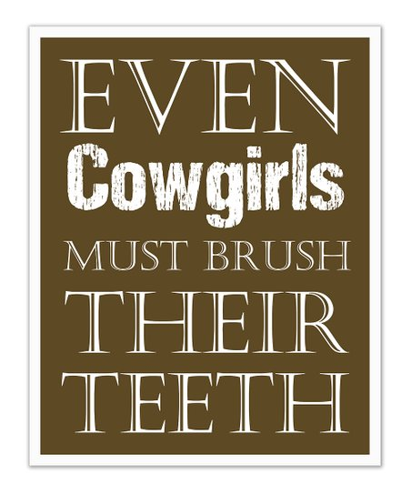 Fit to Print Designs Brown Cowgirls 'Teeth' Print