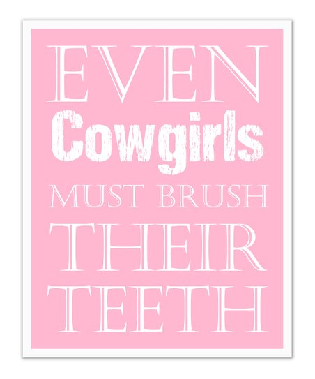 Fit to Print Designs Pink Cowgirls &#039;Teeth&#039; Print