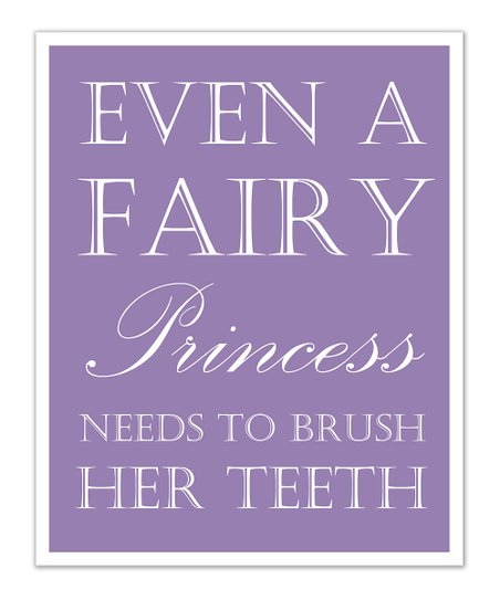 Fit to Print Designs Purple Princess 'Teeth' Print