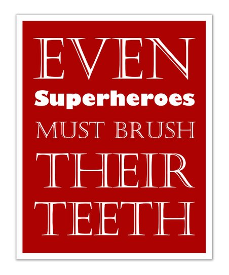 Fit to Print Designs Red Superhero &#039;Teeth&#039; Print