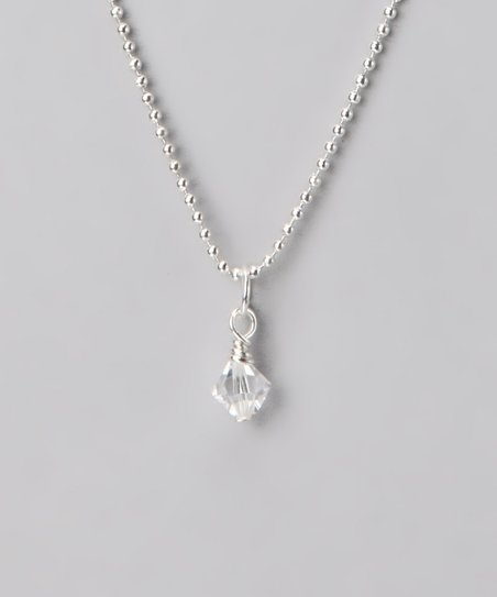 Clear & Silver Necklace Made With SWAROVSKI ELEMENTS