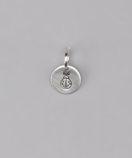 Sterling Silver Ladybug Disc Charm