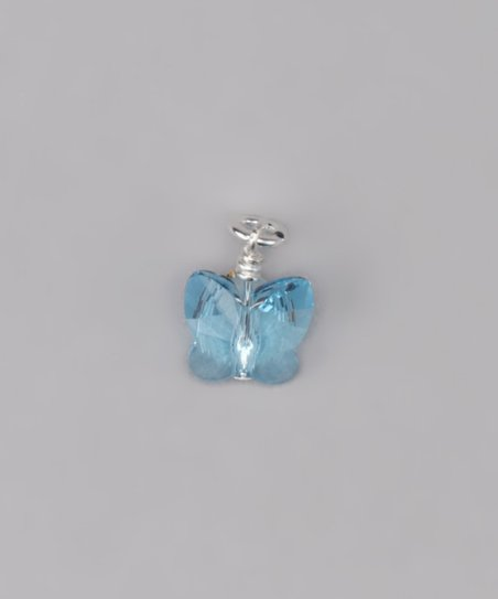 Blue Swarovski Tiny Butterfly Charm