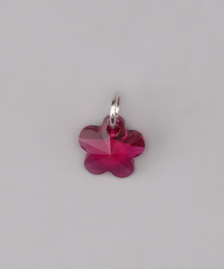 Fuchsia Swarovski Flower Charm