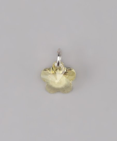 Yellow Swarovski Flower Charm