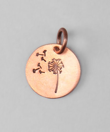 Copper Dandelion Wish Charm