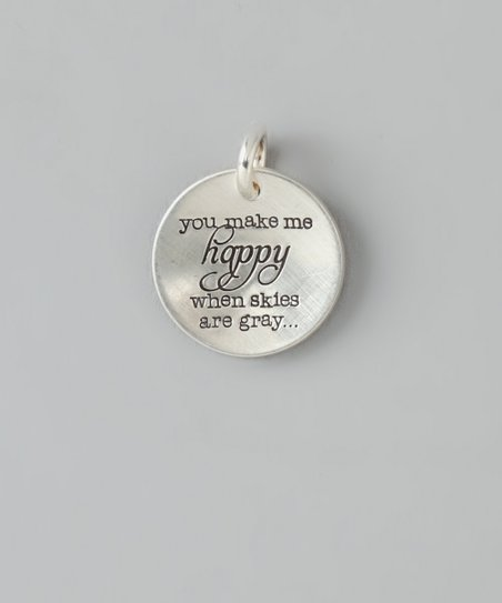 Sterling Silver 'Make Me Happy' Charm