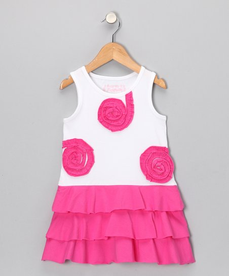 Pink Begonia Tier Ruffle Dress - Toddler