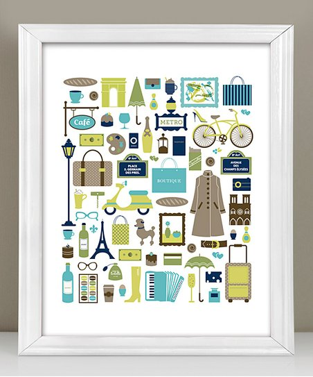 Paris, I Love You Print