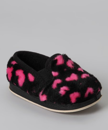 Foamtreads Black & Pink Sweetie Slipper - Toddler & Girls