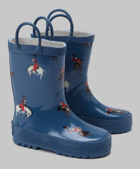 Blue Buckaroo Rain Boot
