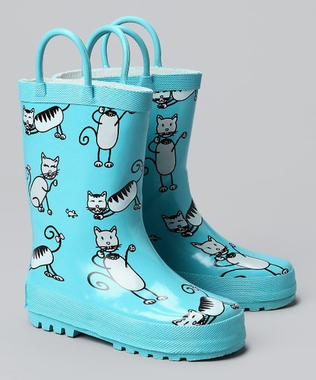 Angel Blue Kitten Rain Boot