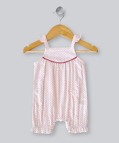 Berry Polka Dot Romper - Infant