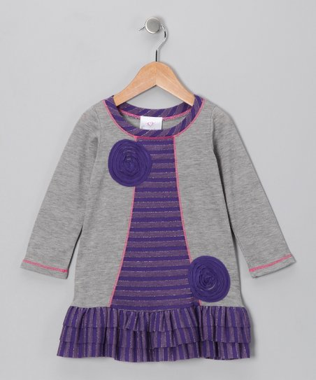 Purple Lollipop Ruffle Swing Dress - Toddler & Girls