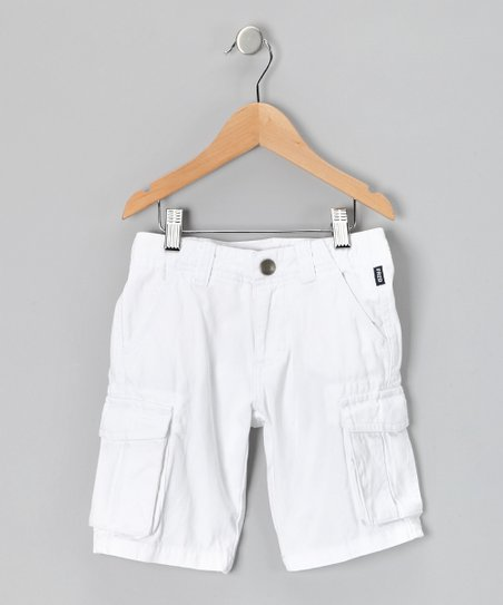 Fred Bare White Cargo Shorts - Infant, Toddler & Boys