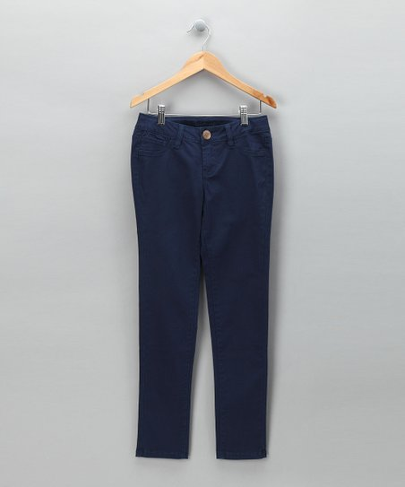Blue Skinny Pants - Girls