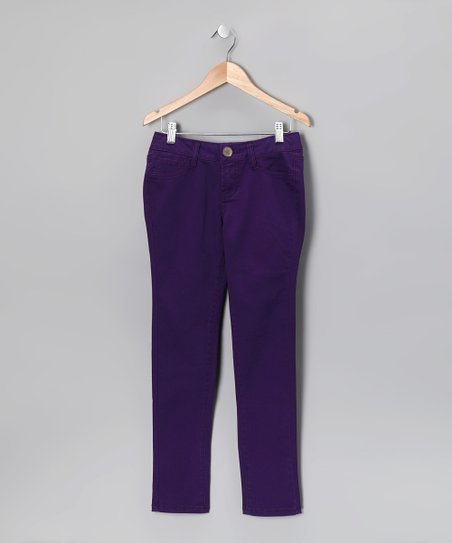 Purple Skinny Pants - Girls