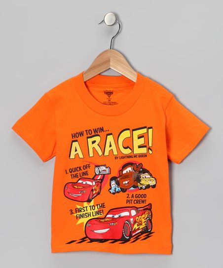 Orange Cars 'How to Win' Tee - Toddler