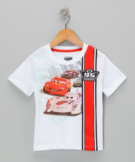 White Cars '95' Tee - Toddler