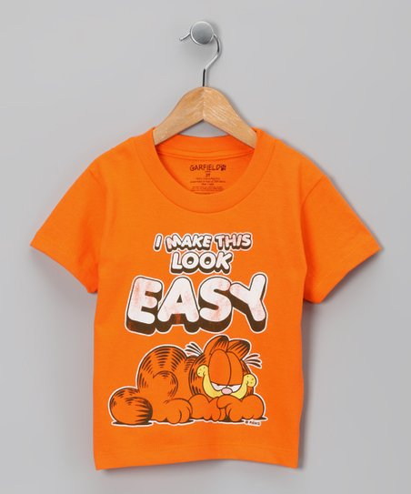 Orange Garfield 'I Make This Look Easy' Tee - Toddler