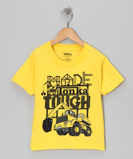 Yellow 'Made Tonka Tough' Tee - Toddler & Kids