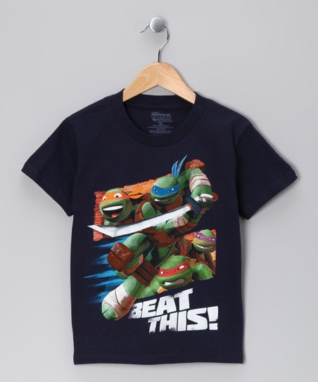 Navy TMNT 'Beat This' Tee - Boys