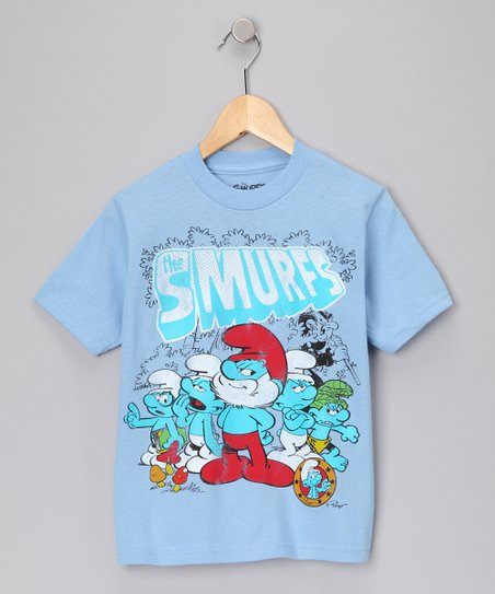 Sky Blue &#039;The Smurfs&#039; Tee - Boys