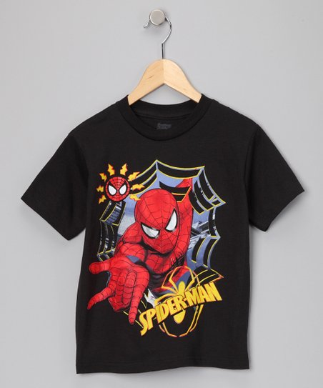 Black 'Spider-Man' Action Tee - Boys