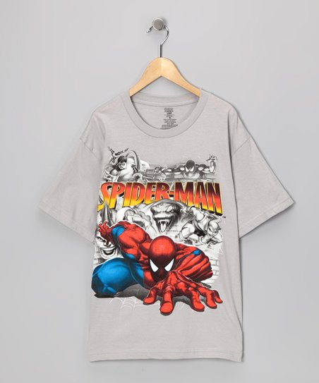Pewter Spider-Man &amp; Villains Tee - Kids
