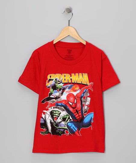 Red Spider-Man & Villains Tee - Kids