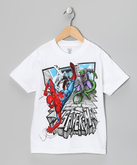 White &#039;Spider-Man&#039; Lizard Tee - Boys