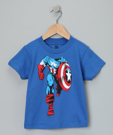 Royal Blue Captain America Tee - Toddler