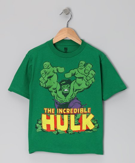 Green 'The Incredible Hulk' Tee - Kids