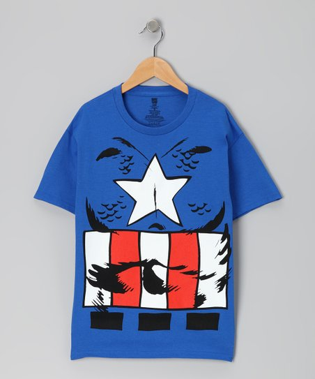Royal Blue Captain America Tee - Kids
