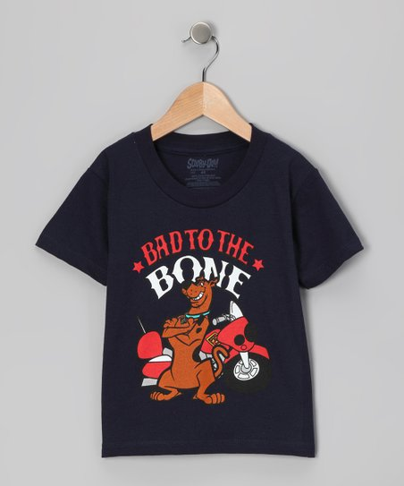 Navy Scooby-Doo 'Bad to the Bone' Tee - Toddler