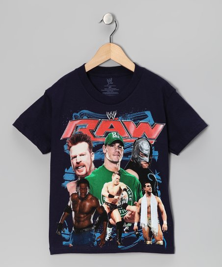 Navy 'Raw' Tee - Kids